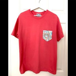 Fraternity Peach Collection Frocket Tee Shirt-M